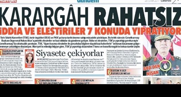 Hürriyet'ten 'Karargah Rahatsız' açıklaması.