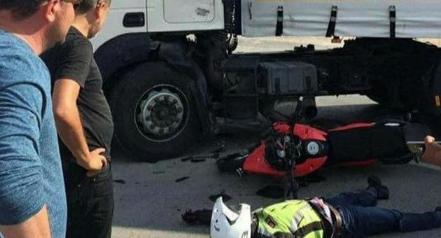 Tırla çarpışan motosikletin sürücüsü öldü