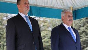 Başbakan Yıldırım, Estonya Başbakanı Juri Ratas'ı resmi törenle karşıladı