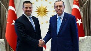 Cumhurbaşkanı Erdoğan, Estonya Başbakanını kabul etti