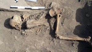 Harput kazılarında insan iskeleti bulundu