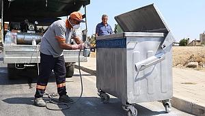 Karabağlar'da çöp konteynerlerine anında çözüm
