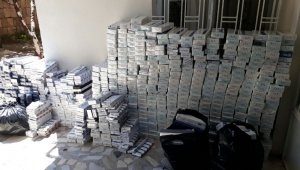 Kayseri'de 9 bin 700 paket kaçak sigara yakalandı