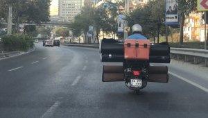 İstanbul'da tehlikeli yolculuk kamerada