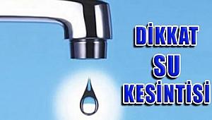Güzelbahçe ve Narlıdere'de su kesintisi