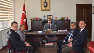 Aday öğretmenler Kaymakam Şeref Aydın'ı ziyareti