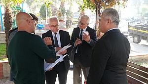 Başkan Selvitopu, Genel Müdür Sezer'le Karabağlar'da incelemelerde bulundu