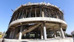 Güvenlevler'deki eğitim ve sanat merkezi inşaatı hızla yükseliyor