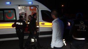 Kaza yapan sürücü kızını yanına almadan ambulansa binmedi