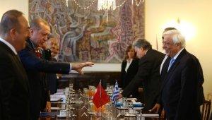 Cumhurbaşkanı Erdoğan, Atina'da heyetler arası görüşme gerçekleştirdi