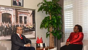 Tanzanya Büyükelçisi Kiondu'dan Vali Demirtaş'a ziyaret