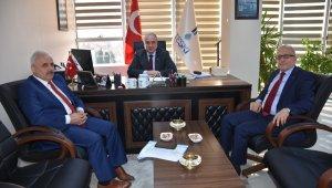 TESKİ, İller Bankası Teftiş Kurulu Başkanını makamında ağırladı