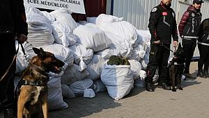 Operasyonda tam 1 ton 38 kilogram ele geçirildi!