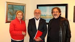"""Barutçugil'in """"Ebru Sanatı Sergisi"""" Selçuk Yaşar Sanat Galerisi'nde açıldı."""