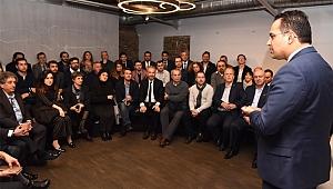 Mimar başkan Olgun Atila, meslektaşlarına Bornova'yı anlattı