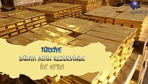 Türkiye Dünya Altın Rezervinde İlk 10'da