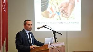 Aşılama ve Budama teknikleri Bornova'da anlatıldı