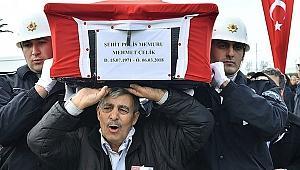 Şehit polis için son görev