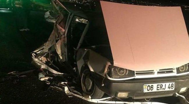 Ankara'da kaza: 1 ölü, 2 yaralı