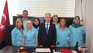 Hastane Temizlik Personelinde AK Parti'ye ziyaret