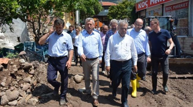 Başkanlar Çukurköy'de inceleme yaptı