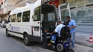Buca'da Yaşlı ve Engellilere 24 Haziran servisi