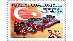 """Ptt'den """"Demokrasi Ve Millî Birlik Günü"""" Konulu Anma Pulu"""