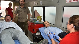 Kan Stoğuna Kaymakam Yücel'den Destek