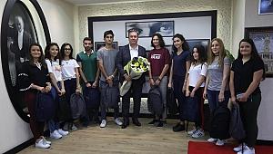 Bem Öğrencilerinden Başkan Piriştina'ya Teşekkür Ziyareti
