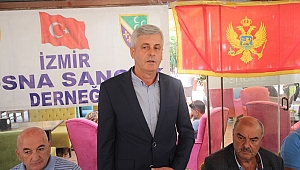 Karadağ Ulaştırma Bakanı Nurkoviç İzmir'de Boşnaklarla Buluştu