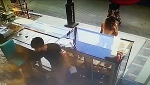 Pastane hırsızı kamerada