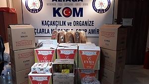İzmir'de kaçak tütün operasyonu