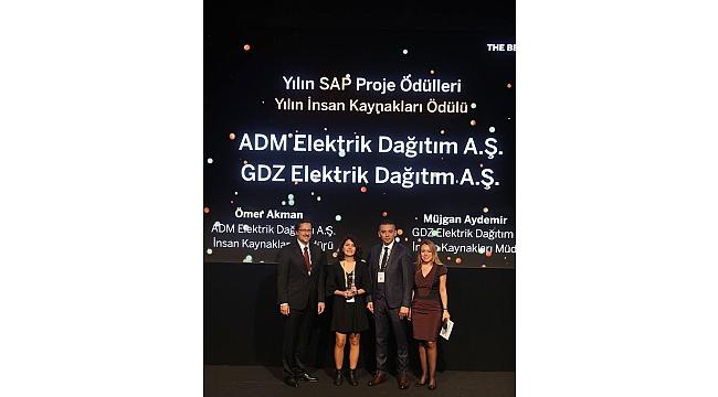 ADM ve GDZ Elektrik Dağıtımı onurlandıran ödül