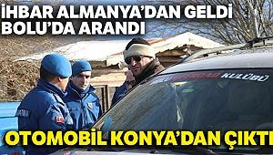Bolu'da imdat sinyali veren otomobil Konya'da tamirhanede çıktı