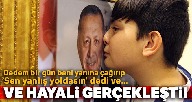 Erdoğan hayranı 13 yaşındaki çocuğun hayalini öğretmenleri gerçekleştirdi