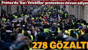 Fransa'da 278 kişi gözaltına alındı