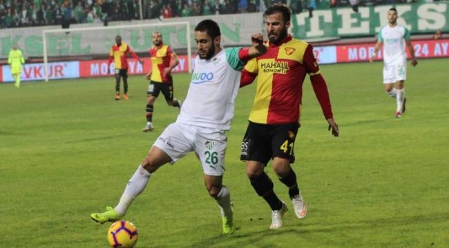 Göztepe sahasında Bursaspor ile golsüz berabere kaldı.