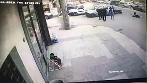 İki yunus polisin yaralandığı kaza kamerada