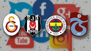 Dört büyükler'den sosyal medyada kim lider?