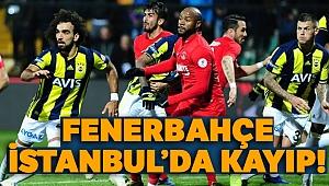 Fenerbahçe, İstanbul'da kayıp! Ümraniyespor: 1 - 0 Fenerbahçe