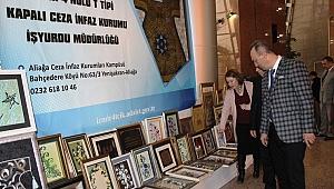 Mahkumların eserleri İzmir Adliyesinde sergilendi