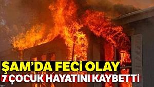 Şam'da bir evde yangın: 7 çocuk hayatını kaybetti