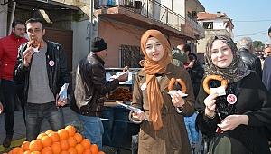 Başkan Özakcan'dan Seçim Ekibine Tatlı Dopingi