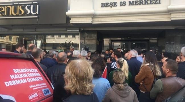 CHP İzmir İl Başkanlığı önünde 'Buca' tepkisi