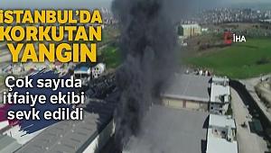 Arnavutköy'de kimyasal fabrikasında yangın