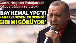 Cumhurbaşkanı Erdoğan: 'Bay Kemal YPG'yi 'kanarya sevenler derneği' gibi mi görüyor'