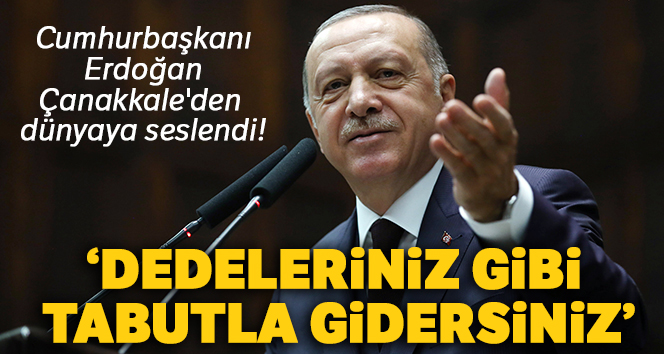 Cumhurbaşkanı Erdoğan Çanakkale'den dünyaya seslendi!