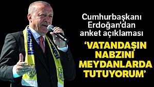 Cumhurbaşkanı Erdoğan'dan anket açıklaması!