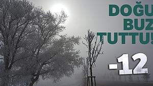 Doğu Anadolu'da soğuk hava: Ağrı eksi 12