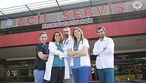 Ege Acil'e 2018 yılında 191 bin 797 hasta başvurdu